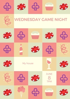personal card Wednesday game night